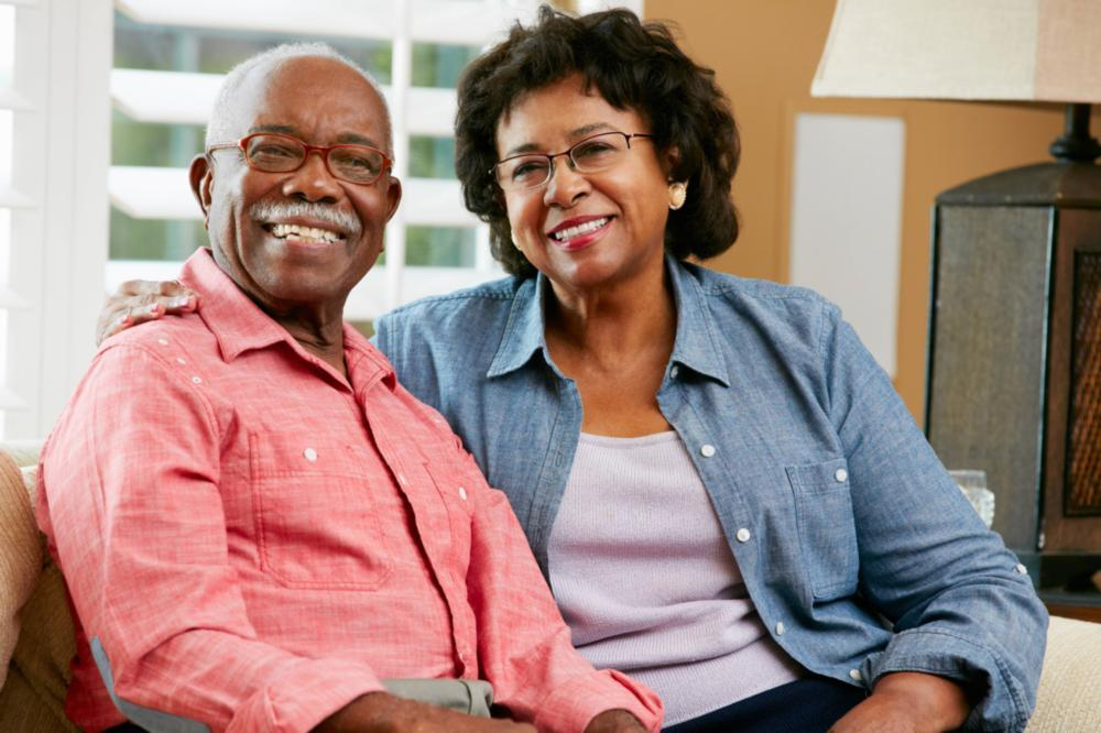 older couple smiling | dentures prairieville la